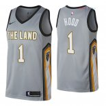 Cleveland Cavaliers - Maillot NBA Rodney Hood 1 Nike Gris Ville 2018