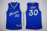 Golden State - Maillot Junior NBA Stephen Curry 30 Bleu 2015 Noël
