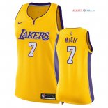 Los Angeles Lakers - Maillot Femme NBA JaVale McGee 7 Jaune Icon 2018