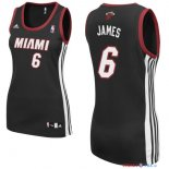 Miami Heat - Maillot Femme NBA LeBron James 6 Noir