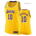Los Angeles Lakers - Maillot Femme NBA Sviatoslav Mykhailiuk 10 Jaune Icon 2018/2019
