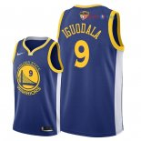 Golden State Warriors - Maillot NBA Andre Iguodala 9 Bleu Icon Patch 2018 Finales Champions