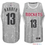 Houston Rockets - Maillot NBA Harden 13 Gris Ville Lumières