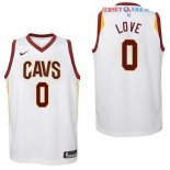 Cleveland Cavaliers - Maillot Junior NBA Kevin Love 0 Blanc Association