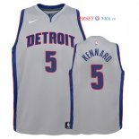 Detroit Pistons - Maillot Junior NBA Luke Kennard 5 Gris Statement