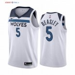 Minnesota Timberwolves-Maillot NBA Malik Beasley 5 Blanc Association 2019/2020