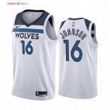 Minnesota Timberwolves-Maillot NBA James Johnson 16 Blanc Association 2019/2020