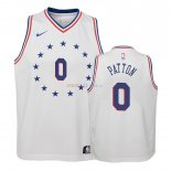 Philadelphia Sixers - Maillot Junior NBA Justin Patton 0 Blanc Earned Edition