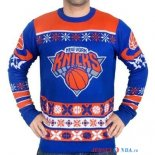 New York Knicks - NBA Unisex Ugly Sweater Bleu