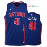 Detroit Pistons - Maillot Junior NBA Jameer Nelson 41 Bleu Icon