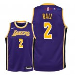 Los Angeles Lakers - Maillot Junior NBA Lonzo Ball 2 Pourpre Statement 2018/2019
