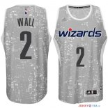 Washington Wizards - Maillot NBA Wall 2 Gris Ville Lumières