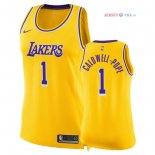 Los Angeles Lakers - Maillot Femme NBA Kentavious Caldwell Pope 1 Jaune Icon 2018/2019