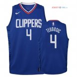 Los Angeles Clippers - Maillot Junior NBA Milos Teodisic 4 Bleu Icon 2018