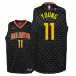 Atlanta Hawks - Maillot Junior NBA Trae Young 11 Noir Icon 2018/2019