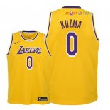 Los Angeles Lakers - Maillot Junior NBA Kyle Kuzma 0 Jaune Icon 2018/2019