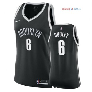 Brooklyn Nets - Maillot Femme NBA Jared Dudley 6 Noir Icon 2018