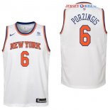 New York Knicks - Maillot Junior NBA Kristaps Porzingis 6 Blanc