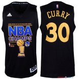 Golden State Warriors - Maillot NBA Curry 30 Noir 2015 Finales Champions