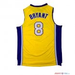 Los Angeles Lakers - Maillot NBA Kobe Bryant 8 Jaune Pourpre