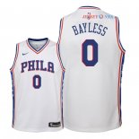 Philadelphia Sixers - Maillot Junior NBA Jerryd Bayless 0 Blanc Association 2018