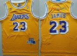 Los AngelesLakers - Maillot NBA Lebron James 23 Retro Jaune
