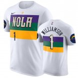 New Orleans Pelicans-T-Shirt NBA Zion Williamson Blanc Ville