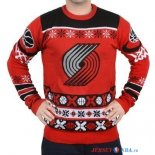 Portland Trail Blazers - NBA Unisex Ugly Sweater Rouge Noir