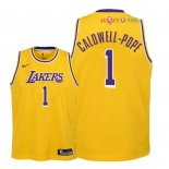 Los Angeles Lakers - Maillot Junior NBA Kentavious Caldwell Pope 1 Jaune Icon 2018/2019