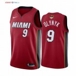 Miami Heat - Maillot NBA Kelly Olynyk 9 Rouge Statement 2020 Finales Champions