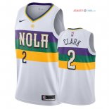 New Orleans Pelicans - Maillot NBA Ian Clark 2 Nike Blanc Ville 2018/2019