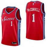 Philadelphia Sixers - Maillot NBA T.J. McConnell 1 Rouge Statement 2017/2018