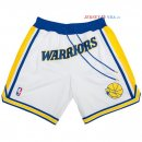 Golden State Warriors - Pantalon NBA Nike Retro Blanc 2018