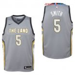 Cleveland Cavaliers - Maillot Junior NBA JR. Smith 5 Nike Gris Ville