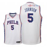 Philadelphia Sixers - Maillot Junior NBA Amir Johnson 5 Blanc Association 2018