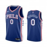 Philadelphia Sixers - Maillot NBA Josh Richardson 0 Bleu Icon 2019-2020
