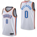 Oklahoma City Thunder - Maillot NBA Russell Westbrook 0 Blanc Association 2017/2018