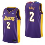 Los Angeles Lakers - Maillot Junior NBA Lonzo Ball 2 Pourpre