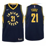 Indiana Pacers - Maillot Junior NBA Thaddeus Young 21 Marine Icon 2018