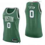 Boston Celtics - Maillot Femme NBA Jayson Tatum 0 Vert Icon 2017/2018