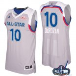 2017 All Star - Maillot NBA Demar Derozan 10 Gray