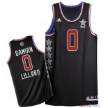 2015 All Star - Maillot NBA Damian Lillard 0 Noir