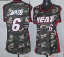 2013 Camouflage Fashion - Maillot Femme NBA James 6