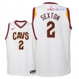 Cleveland Cavaliers - Maillot Junior NBA Collin Sexton 2 Blanc Association 2018