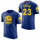 Golden State Warriors - Maillot NBA Draymond Green 23 Bleu Manche Courte 2017/2018