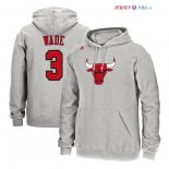 Chicago Bulls - Sweat Capuche NBA Dwyane Wade 3 Gris