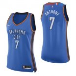 Oklahoma City Thunder - Maillot Femme NBA Carmelo Anthony 7 Bleu Icon 2017/2018