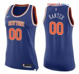 New York Knicks - Maillot Femme NBA Enes Kanter 0 Bleu Icon 2017/2018