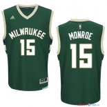 Milwaukee Bucks - Maillot NBA Greg Monroe 15 Vert