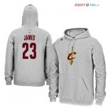 Cleveland Cavaliers - Sweat Capuche NBA LeBron James 23 Gris